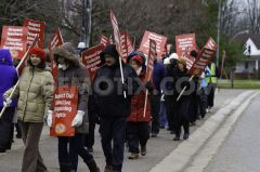 ETFO teachers protest